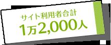 サイト利用者合計1万2,000人