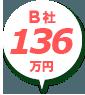 B社:84万円